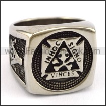 Delicate  Stainless Steel Casting Ring   r003405