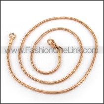 Rose Gold Plated Necklace n001222