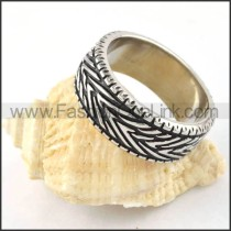 Stainless Steel VIntage Design Ring r000304