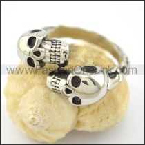 Dlicate Double Skulls Ring r001566