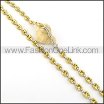 Golden Plated Necklace   n000315