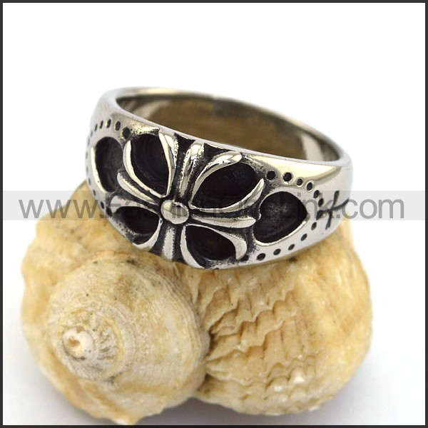 Stainless Steel Cross Ring  r003303