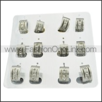 Unique Stainless Steel Cutting Earrings     e000304