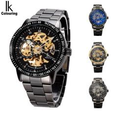 5 Colors Luxury Modern IK Colouring Brand Skeleton Dial Automatic Mechanical Military Steel Wrist Wa