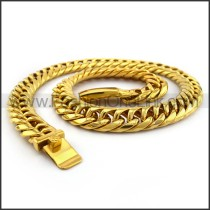 Hasp Interlocking Chain Plated Necklace n001126
