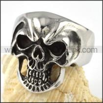 Ugly Stainless Steel Skull Ring r000062