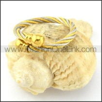 Stainless Steel Classic Rope Ring r000586