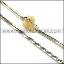 Silver Stamping Necklace n001001