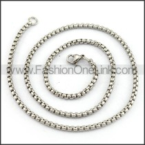 Succinct Silver Stamping Necklace n001216