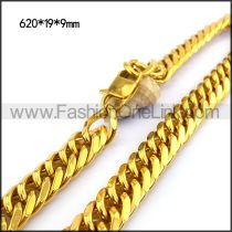 Gold Hasp Stamping Necklace n001134