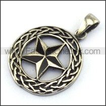 Delicate Stainless Steel Casting Pendant    p003511