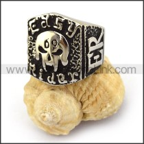 Easy Rider 69 Biker Ring in Stainless Steel r003672