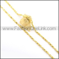 Succinct  Plated Necklace n000642