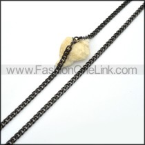 Black Plated Necklace  n000084