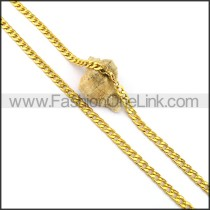 Elegant Gold Plated Necklace n001049