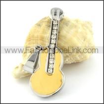 Lovely Guitar Stainless Steel Pendant  p000973