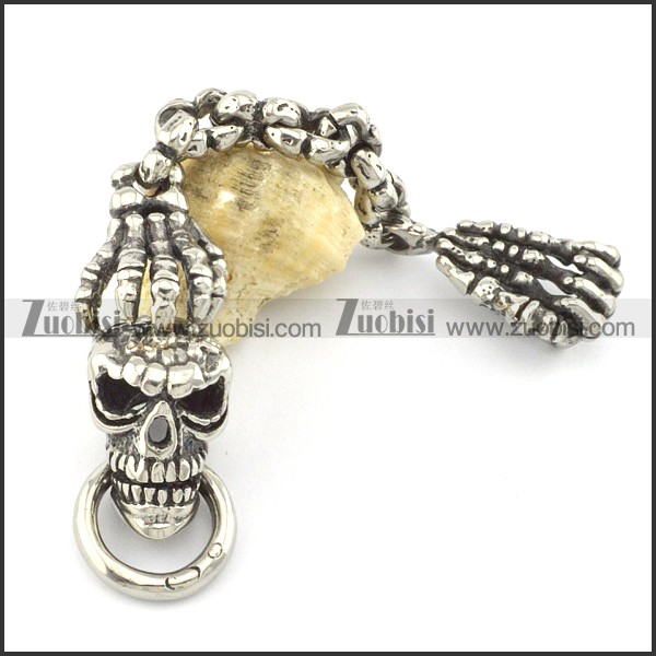 316L Ghostcrawler Stainless Steel Skull Key Chain k000001