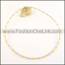 Unique Golden and Silver Plated Necklace   n000496