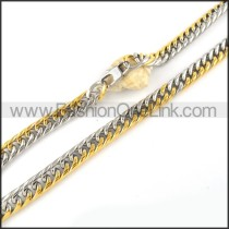 Golden Stamping Necklace   n000067