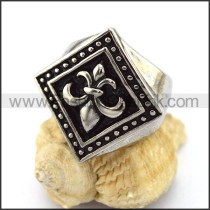 Delicate Stainless Steel Cross Ring    r002940
