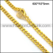 Exquisite Interlocking Plated Necklace n001086
