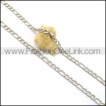Succinct Silver Interlocking Stamping Necklace n001006