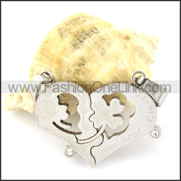 Exquisite Stainless Steel Couple Pendant  p000954