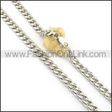 Hot Selling Silver Stamping Necklace n000614
