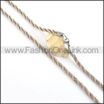 Twisted Rope Plated Necklace     n000056