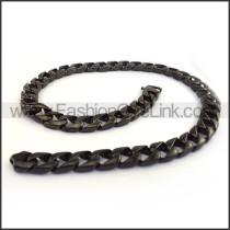 Black Hasp Stamping Necklace n001131