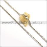 Delicate Interlocking Small Chain n000967