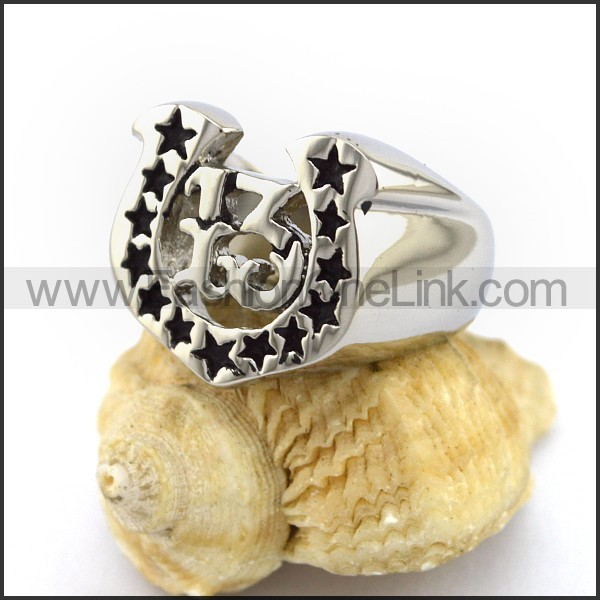 Unique Stainless Steel Casting Ring   r003013