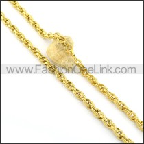 Golden Plated Necklace n000669