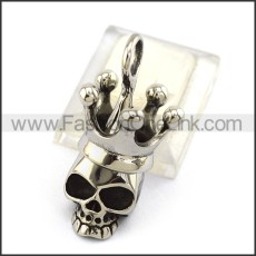 Exquisite Stainless Steel Skull Pendant   p004041