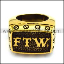 Vintage Gold FTW Ring in Stainless Steel r003896