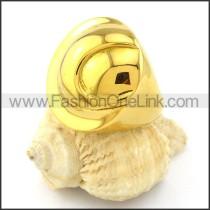 Elegant Yellow Gold Plating Round Ring r000920