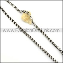 Succinct Silver Stamping Necklace      n000248