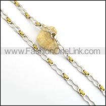 Delicate Two Tone Plated Necklace n000801
