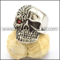 Delicate Stainless Steel Skull Ring r002247