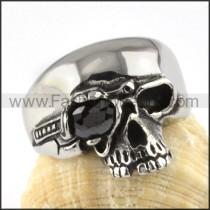 Wicked Stainless Steel Skull Ring    r000077