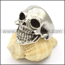 Stainless Steel Classic Skull Ring  r000424