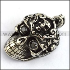 Exquisite Stainless Steel Skull Pendant   p003975