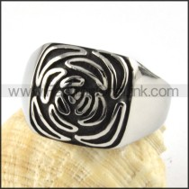 Stainless Steel Cool Rose Flower Ring r000070