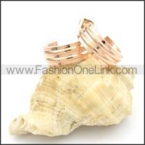 Ring Stack Design Stainless Steel Earrings   e000172