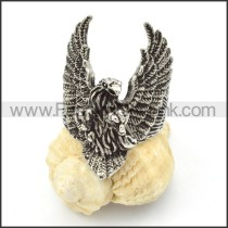 Stainless Steel Eagle Wings Ring r000374