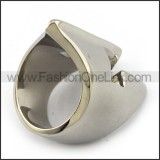 Silver Stainless Steel Gladiator Ring r003711