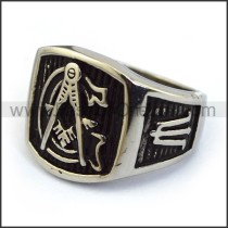 Exquisite Stainless Steel Casting Ring    r003620