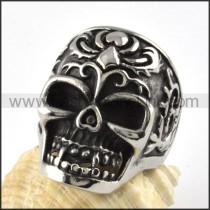 Stainless Steel Punk Design Skull Ring r000073