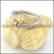 Stainless Steel Classic Rope Ring r000582