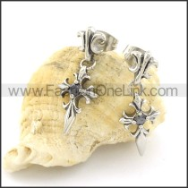 Fashion Stainless Steel Stone Earrings   e000659